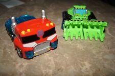 Transformers Energize Rescue Bots Playskool Heroes Lot - Boulder - Optimus Prime