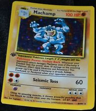 Error Holo Foil Machamp # 8/102 Miscut Mis Cut Base Set Pokemon Trading Cards SP
