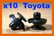 10 toyota pare-chocs fender frotter bande plastique push fit fastener clips