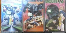 VHS MANGA ROBOT-ORGUSS 02 1,2,3 SERIE COMPLETA ANIME INEDITA DVD  macross,gundam