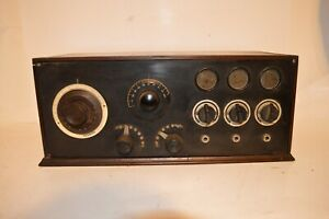 EARLY 1920's THREE TUBE RADIO RECEIVER POSSIBLY MADE BY TREGO