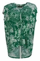 G.I.L.I. Got It Love It Women's Top Sz M Printed Surplice Knit Green A380173