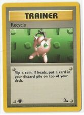 Pokemon 1st Edition Fossil set Recycle Trainer 61/62 common NM Condition