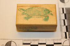 Rub-a-dub-dub rubber Stamp Works Turtle tortoise wood mounted rubber stamp