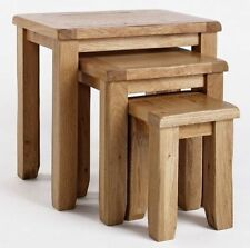 Solid Wood Traditional No Assembly Required Nested Tables
