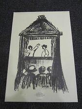 """PERY dominique Estampe """"Le théâtre de Marionnettes"""" 100 ex. numérotés 1997"""