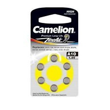 "4 Pack Camelion Premium Long Life Zinc Air Hearing Aid ""A10"" 1.4V Battery 6 Each"