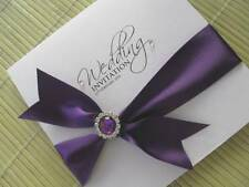 Cadburys Purple Wedding Invitation with Embellishment - Other Colours