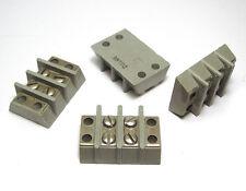 4x Klemmenleiste / Klemme / Anschluß-Klemmen f. Röhrenverstärker,  2-polig, NOS
