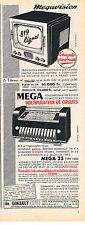 PUBLICITE ADVERTISING   1954    MEGA 25   multiplicateur de circuits Megavision