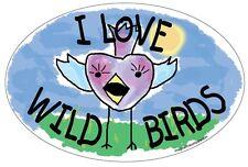 I Love Wild Birds Euro Magnet