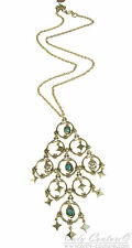 Lucky Brand 'Into The Wild' Green Swinging  Gold-Tone Necklace $65