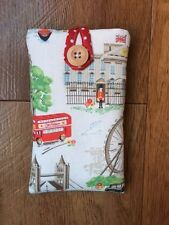 Handmade Cath Kidston White London Scene - iPhone 5 5S 5C SE Fabric Padded Case