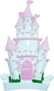 Personalised Christmas Decoration/Ornament - Girls Pink Castle