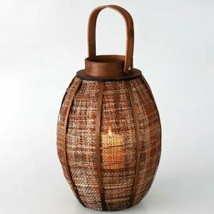 Oval and Square Wooden Lanterns with Pillar Candles