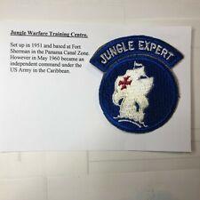 US Army Jungle warfare Training centre Cloth Badge patch 1951-60