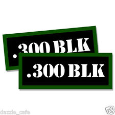 """300 BLK Ammo Can 2x Labels Ammunition Case 3""""x1.15"""" stickers decals 2 pack"""