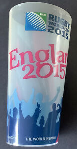 Rugby World Cup Memorabilia. Plastic Pint Glass X 2. Collectible