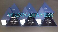 Swarovski Set 2013, 2014, 2015 annual snowflake star ornament New , Free Ship !