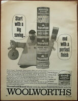 Woolworths Macpherson Paint Vintage Advertisement 1966