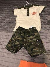 Lucky Brand Camo Shorts Amd Top Sz 18 Months