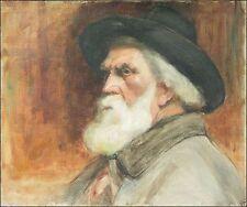 1800-1899 Originalgemälde (1800-1899) aus Leinwand mit Impressionismus auf Porträt & Person
