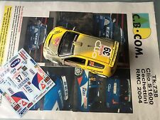 1/43 TRANSKIT RENAULT CLIO S 1600  N°37 Rally WRC MONTE CARLO 2004 MONTECARLO