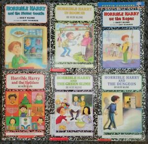 HORRIBLE HARRY SUZY KLINE 6 PAPERBACK CHILDRENS CHAPTER BOOK LOT FREE SHIPPING!