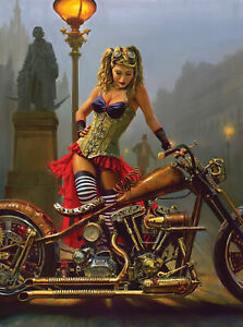 STEAMPUNK SEDUCTION by DAVID UHL Motorcycle  - SunsOut 1000 piece puzzle - NEW
