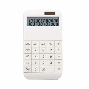 Taschenrechner mit Standardfunktionen - 19 x 10 x 1,2 cm - weiß -