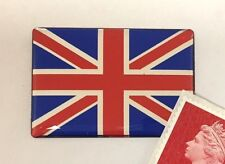 Union Jack Flag Sticker Domed Finish Red, Blue & Chrome 40mm