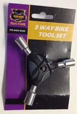 3 modo Socket tuerca Llave de 10 mm 9mm 8mm Set y forma Herramienta Bicicleta Moto herramienta de reparación