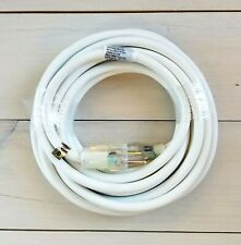25' 12 Gauge White Extension Cord with Lighted Outlet