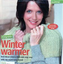 ~ Knitting Pattern For Lady's Easy-Knit Ribbed Shoulder Cape ~