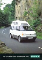 VW Caravelle Camper Van by SWIFT UK market 1995 sales brochure