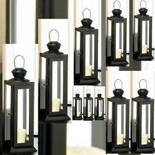 10 Lantern Black Candle Holder Wedding centerpieces- Set
