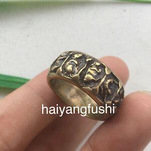 2pcs Pure copper retro personality folk-custom zodiac copper 20.2mm ring 生肖戒指