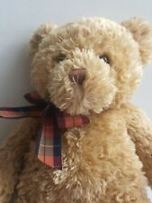 "Gund Brown Bear With Plaid Bow 17"" #45691"