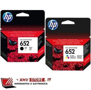 Kit Cartucce HP 652 Nero e Colori Originali HP DeskJet 1115 2135 3635 3735 3785