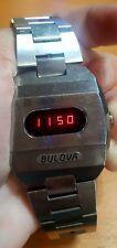 Vintage 1974 Bulova Accuquartz Big Block red LED men's watch
