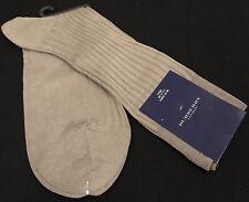 Brand New Burberry London Men socks UK Large 9-11.5 Rib Knit Striped Grey Socks