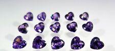 Amethyst Heart Shape Stones SIZE CHOICE Cubic Zirconia Loose Gemstones
