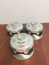 Lot of 3  Coleman Butane Propane Mix Liquid Fuel Canister Cylinder 3250-702T