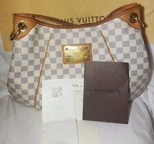 100% Authentic Louis Vuitton Galliera PM Schultertasche Damier Azur N55215