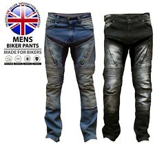 Mens Motorbike Aramid Protective Pants Stretch Panel Motorcycle Armour Trousers