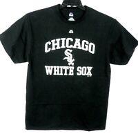 Majestic Chicago White Sox Men's  Black T-Shirt 100% Cotton Size XL