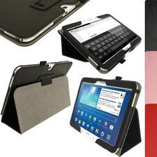 """Nero Custodia Eco-Pelle Case per Samsung Galaxy Tab 3 10.1"""" + Protettore Schermo"""