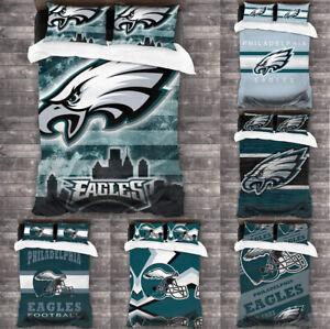 Philadelphia Eagles 3PCS Bedding Set Comforter Cover Pillowcases Duvet Cover Set