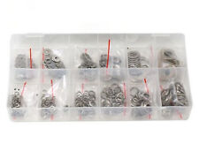 350pc. 6 sizes Stainless Steel Washers Assortment Set w/ Flat + Spring/Lock Type