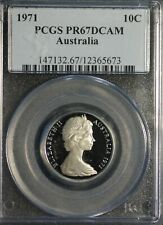 Australia 10 cents 1971 PCGS PR 67 DCAM